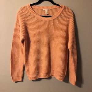 Forever 21 Knit Peach Sweater Size L